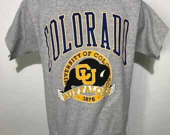 Vintage University of Colorado Buffaloes Cutoff Crewneck Sweatshirt