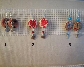 BUTTON earrings. Single model