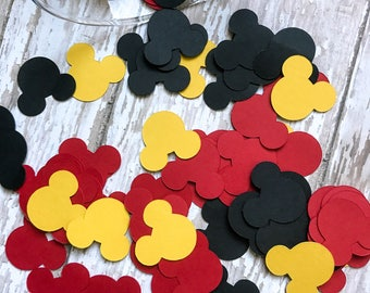 Mickey Mouse Confetti / Mickey Mouse Party Decor / Mickey Mouse Theme Birthday / Mickey Mouse Die Cuts / Mickey Mouse Birthday