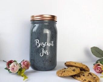 Grey Biscuit Jar, cookie jar, kitchen storage, grey kitchen decor, grey storage, kitchen accessories, dark grey storage, kitchen canisters