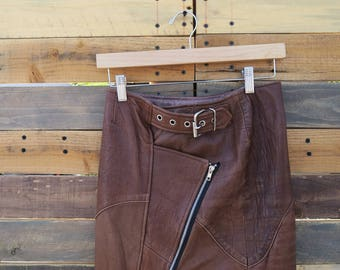 0333  American Vintage 50s Styled Leather Skirt