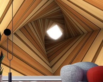 3D Wall Decal ** Tunnel ** / 3D Wall Stickers / 3D Wall Mural / Self-adhesive Wallpaper / Peel and Stick Wallpaper