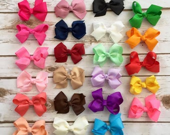 PICK 4 Bow Headbands/Baby Headband/Newborn Headband/Baby Girl Headband/Infant Headband/Baby Bow Headband/Baby Hair Bow/Headband/Bow Headband