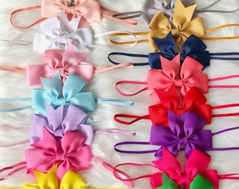 PICK 8 Bow Headbands, Baby Headband, Newborn Headband, Baby Girl Headband, Infant Headband, Baby Bow Headband, Baby Hair Bow, Bow Headband