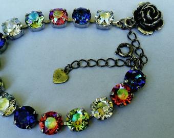pastel ice swarovski crystal bracelet