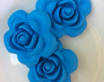 Set of 3 flowers silicone