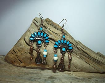 """Ethnic earrings """"abhilasha"""" model unique"""