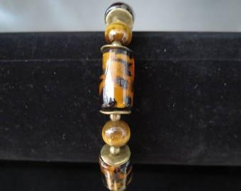 Bracelet kenya with spider and Tiger eye beads