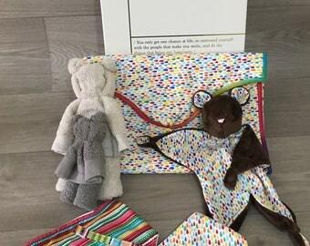 Luxury Personalised baby shower gift box handmade and displayed in memory box