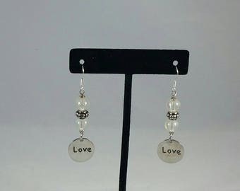 Dangling clear beads,love charms,
