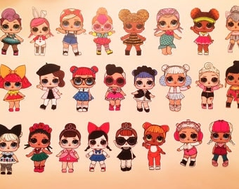 LOL Surprise Doll Sticker Sheets