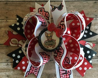 El Paso chihuahuas hair bow, girls hair bows, stacked hair bow, chihuahuas hair bow, baseball hair bow, boutique hair bows, hair bows,