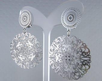 Anoda silver clip earring