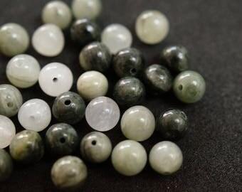 30 pearls stones grey 6mm H2063