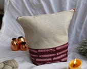 MULLED WINE (large, Limited Edition) - Knitting project bag / Zipper project bag / Zipper pouch / Project bag / Project bag for knitting