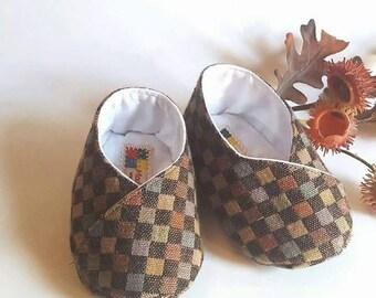 Newborn shoes kimono Brown and hazel