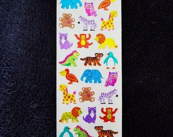 ANIMALS GLITTER plastic sticker