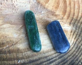 Green Kyanite and Blue Kyanite for cabochons or healing energy work