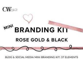 Rose Gold Branding Kit | Premade Branding Package | Brand Identity Design for Bloggers, Female Entrepreneurs