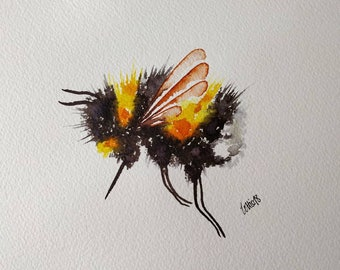 Bumble Bee. A4 size. Original watercolour painting. Not a print.