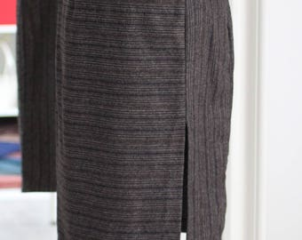Split front pencil skirt