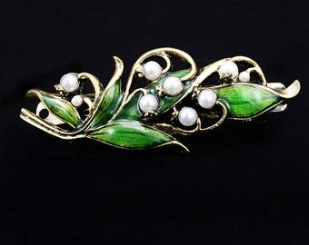 barrette hair clip Lilly Of The Valley