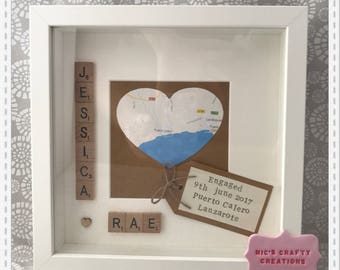 Engagement scrabble frame