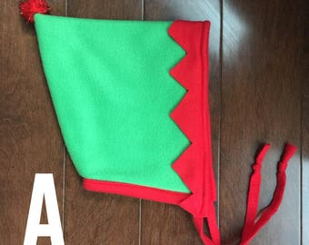 Holiday Hat, Elf Hat, Christmas Hat, Winter Fleece Hat, Gifts for kids, stocking stuffer