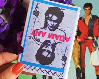 Adam Ant Mini Zine, handmade printed music zine