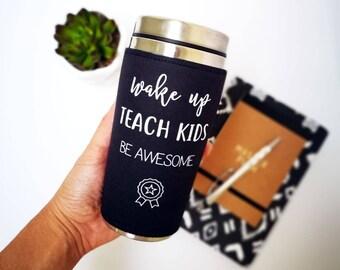 Personalised Teacher gift, Teacher mug to go coffee mug, tumbler travel mug, teacher appreciation gift for male teacher, coach school gift