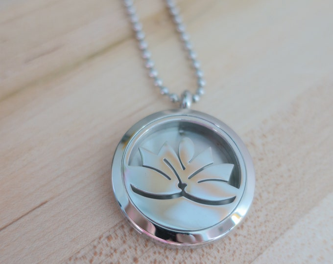 Featured listing image: Lotus Diffuser   Aromatherapy   Hypoallergenic   Stainless Steel   Essential Oil   Necklace Diffuser   Diffuser Felt Pads   Diffuser Locket