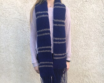 Ravenclaw Scarf Knitted - Handmade