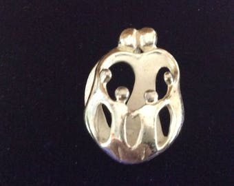 Sterling silver modern family charm vintage # 1145