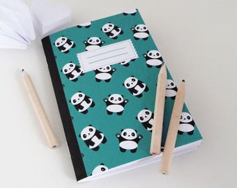 A6 notebook featuring little pandas