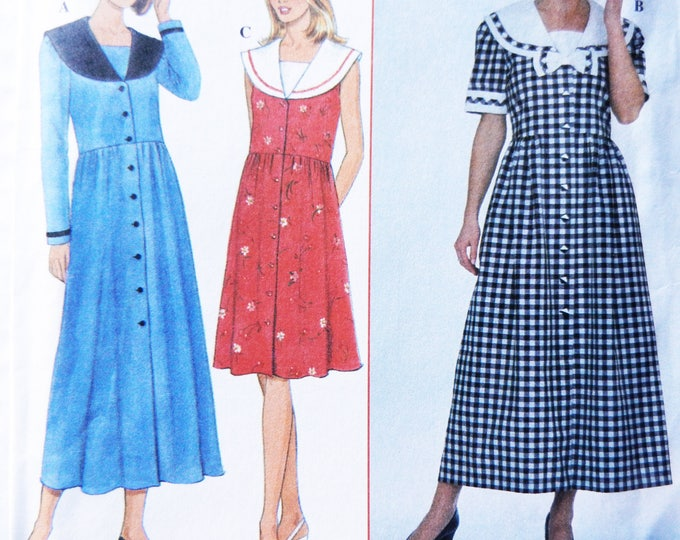 Miss 80's Sailor Dresses Vintage Simplicity Sewing Pattern 8164, Size 14-16-18