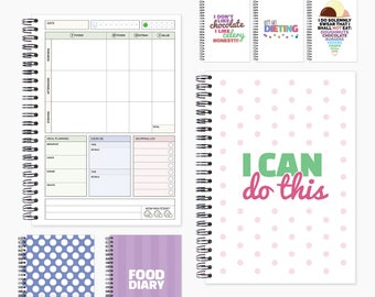 Food diary compatible with slimming world. Diet diary, food log, slimming journal, tracker, log book