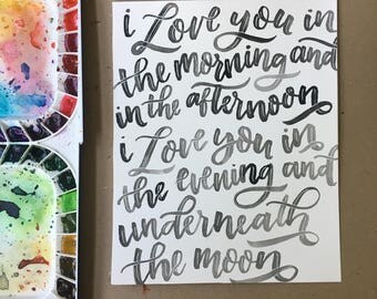 Love You In the Morning for Becca L.