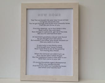 Personalised congratulations poem, gift for passing driving test, exams, on engagement, marriage. Bespoke housewarming gift, Frame or scroll