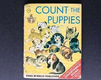 Count the Puppies by Carolyn Dee Illustrated by Mary Whilldin Vintage Rand McNally Junior Elf Book