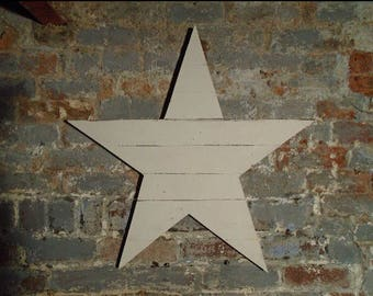 Large wooden star, shabby chic, christmas star, wooden star, christmas decoration