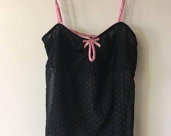 M/  VIctoria's Secret Cami Black Sheer CamisoleTop Medium