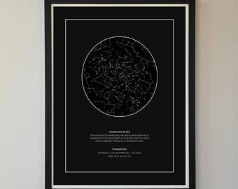 Custom Star Map poster, Star Map, Poster, 18 x 24