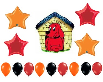 Clifford Birthday Balloons, Clifford the Red Dog Party Decorations, Clifford Balloons, Clifford Party Balloons, Clifford Mylar Foil Balloons