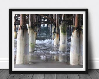 California Pier: Photography, Printable JPG, Poster, Instant Download