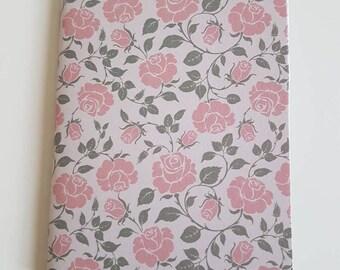A6 Notebook // Jotter // Handmade notebook // Floral sketchbook // Blank Journal // Pink Roses