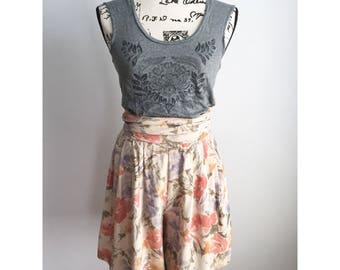 80s Floral Bermuda Shorts, Vintage Bermuda Shorts, Vintage 80s Cullotte Shorts, Vintage Floral Shorts