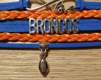 Football Gift. Denver Broncos Bracelet