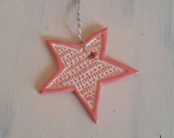Star ceramic red neon