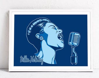 Billie Holiday. Print 40 x 30 cm.