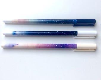 Galaxy Stars Pen - Choice of Colours